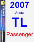 Passenger Wiper Blade for 2007 Acura TL - Vision Saver