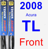 Front Wiper Blade Pack for 2008 Acura TL - Vision Saver