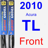 Front Wiper Blade Pack for 2010 Acura TL - Vision Saver