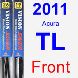 Front Wiper Blade Pack for 2011 Acura TL - Vision Saver