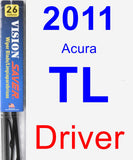 Driver Wiper Blade for 2011 Acura TL - Vision Saver