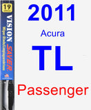 Passenger Wiper Blade for 2011 Acura TL - Vision Saver