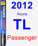 Passenger Wiper Blade for 2012 Acura TL - Vision Saver