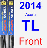 Front Wiper Blade Pack for 2014 Acura TL - Vision Saver