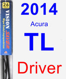 Driver Wiper Blade for 2014 Acura TL - Vision Saver