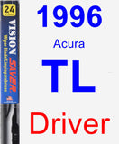Driver Wiper Blade for 1996 Acura TL - Vision Saver