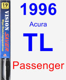 Passenger Wiper Blade for 1996 Acura TL - Vision Saver