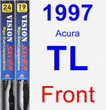 Front Wiper Blade Pack for 1997 Acura TL - Vision Saver