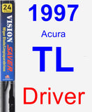 Driver Wiper Blade for 1997 Acura TL - Vision Saver