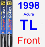 Front Wiper Blade Pack for 1998 Acura TL - Vision Saver