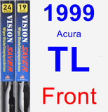 Front Wiper Blade Pack for 1999 Acura TL - Vision Saver