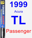 Passenger Wiper Blade for 1999 Acura TL - Vision Saver