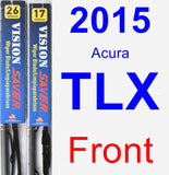 Front Wiper Blade Pack for 2015 Acura TLX - Vision Saver