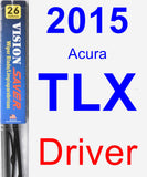 Driver Wiper Blade for 2015 Acura TLX - Vision Saver