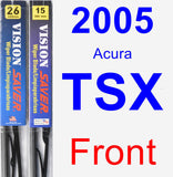 Front Wiper Blade Pack for 2005 Acura TSX - Vision Saver