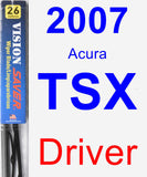 Driver Wiper Blade for 2007 Acura TSX - Vision Saver