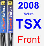 Front Wiper Blade Pack for 2008 Acura TSX - Vision Saver