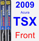 Front Wiper Blade Pack for 2009 Acura TSX - Vision Saver