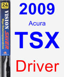 Driver Wiper Blade for 2009 Acura TSX - Vision Saver