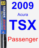 Passenger Wiper Blade for 2009 Acura TSX - Vision Saver