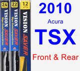 Front & Rear Wiper Blade Pack for 2010 Acura TSX - Vision Saver