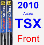 Front Wiper Blade Pack for 2010 Acura TSX - Vision Saver