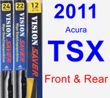 Front & Rear Wiper Blade Pack for 2011 Acura TSX - Vision Saver