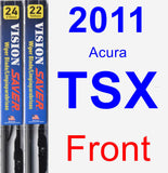 Front Wiper Blade Pack for 2011 Acura TSX - Vision Saver