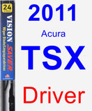 Driver Wiper Blade for 2011 Acura TSX - Vision Saver