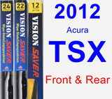 Front & Rear Wiper Blade Pack for 2012 Acura TSX - Vision Saver