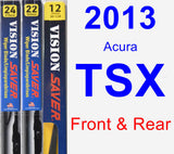 Front & Rear Wiper Blade Pack for 2013 Acura TSX - Vision Saver