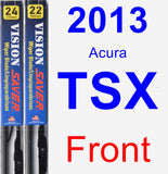 Front Wiper Blade Pack for 2013 Acura TSX - Vision Saver