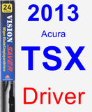 Driver Wiper Blade for 2013 Acura TSX - Vision Saver