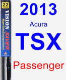 Passenger Wiper Blade for 2013 Acura TSX - Vision Saver
