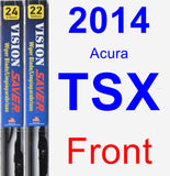 Front Wiper Blade Pack for 2014 Acura TSX - Vision Saver