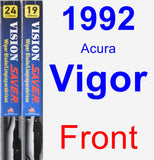 Front Wiper Blade Pack for 1992 Acura Vigor - Vision Saver