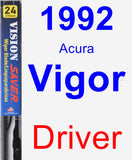 Driver Wiper Blade for 1992 Acura Vigor - Vision Saver
