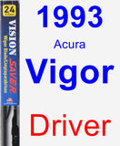 Driver Wiper Blade for 1993 Acura Vigor - Vision Saver