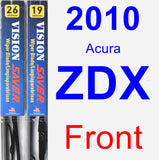 Front Wiper Blade Pack for 2010 Acura ZDX - Vision Saver