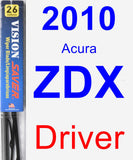 Driver Wiper Blade for 2010 Acura ZDX - Vision Saver