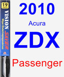Passenger Wiper Blade for 2010 Acura ZDX - Vision Saver