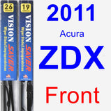 Front Wiper Blade Pack for 2011 Acura ZDX - Vision Saver