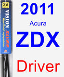 Driver Wiper Blade for 2011 Acura ZDX - Vision Saver