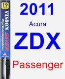 Passenger Wiper Blade for 2011 Acura ZDX - Vision Saver