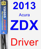 Driver Wiper Blade for 2013 Acura ZDX - Vision Saver