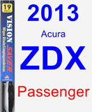 Passenger Wiper Blade for 2013 Acura ZDX - Vision Saver
