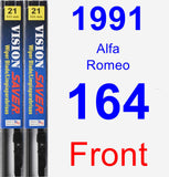 Front Wiper Blade Pack for 1991 Alfa Romeo 164 - Vision Saver
