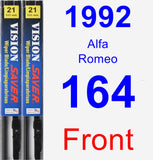 Front Wiper Blade Pack for 1992 Alfa Romeo 164 - Vision Saver