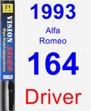 Driver Wiper Blade for 1993 Alfa Romeo 164 - Vision Saver