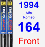 Front Wiper Blade Pack for 1994 Alfa Romeo 164 - Vision Saver